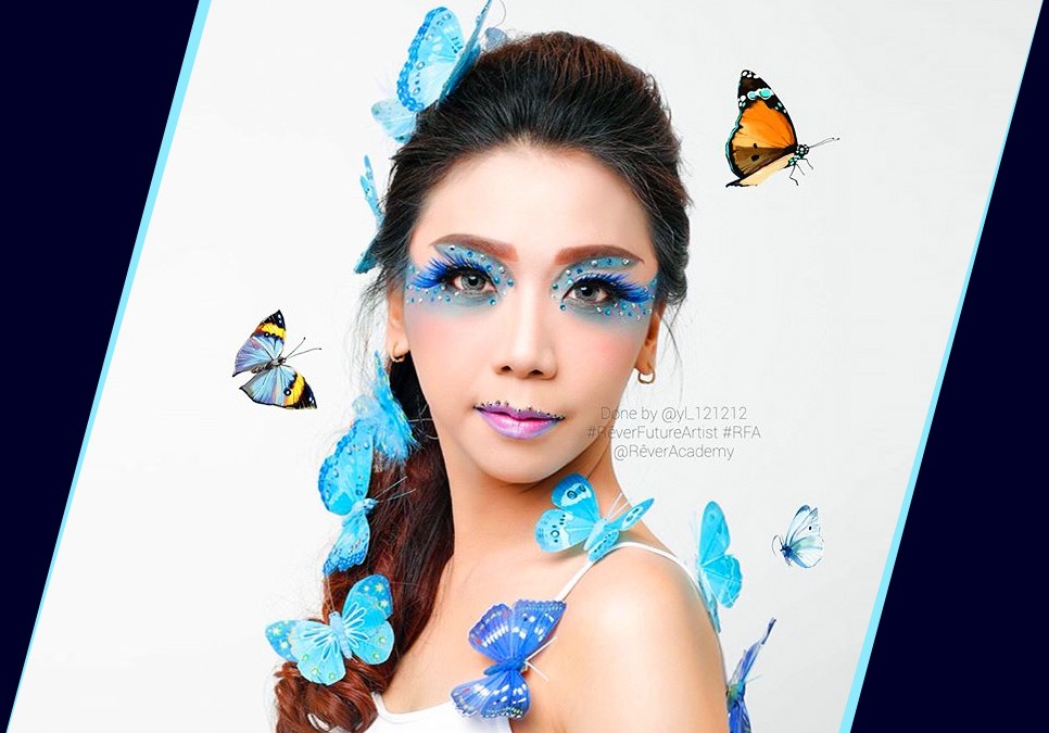 Brilliant Blue Butterfly Take Flight for the First Time